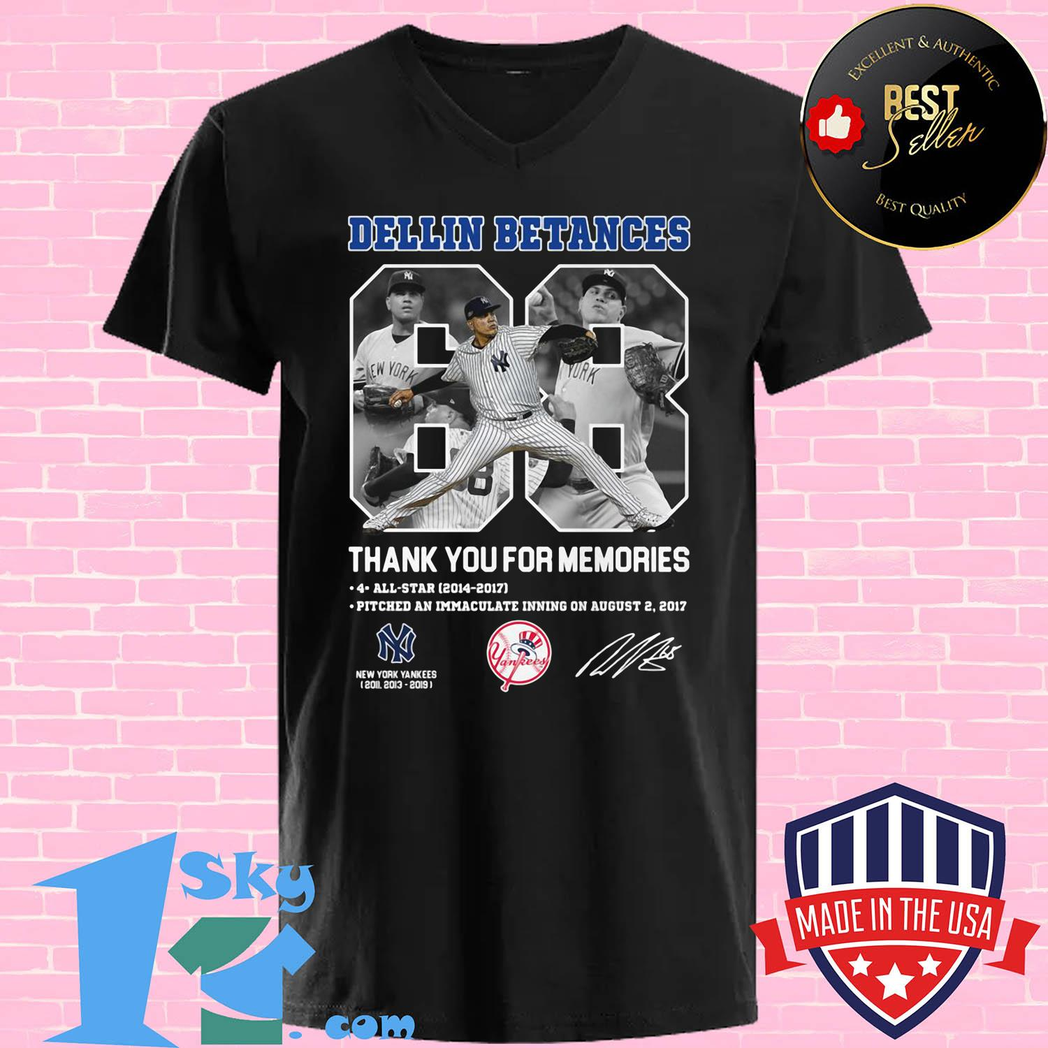Dellin Betances Thank You For Memories New York Yankees Baseball Signature shirt