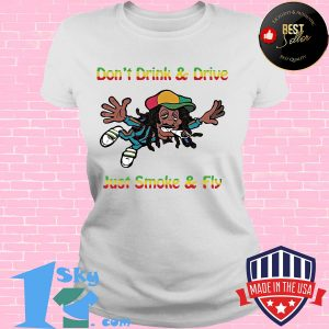 Don't drink and drive just smoke and fly s V-neck
