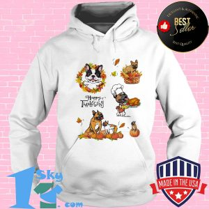 Frenchie dog cook happy thanks giving s Hoodie
