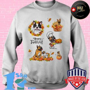 Frenchie dog cook happy thanks giving s Sweater