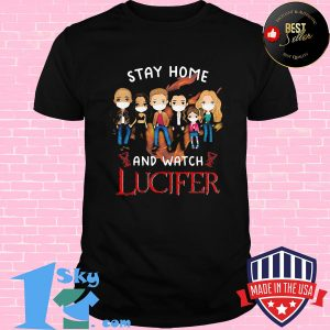 Stay home and watch lucifer characters chibi mask covid-19 shirt