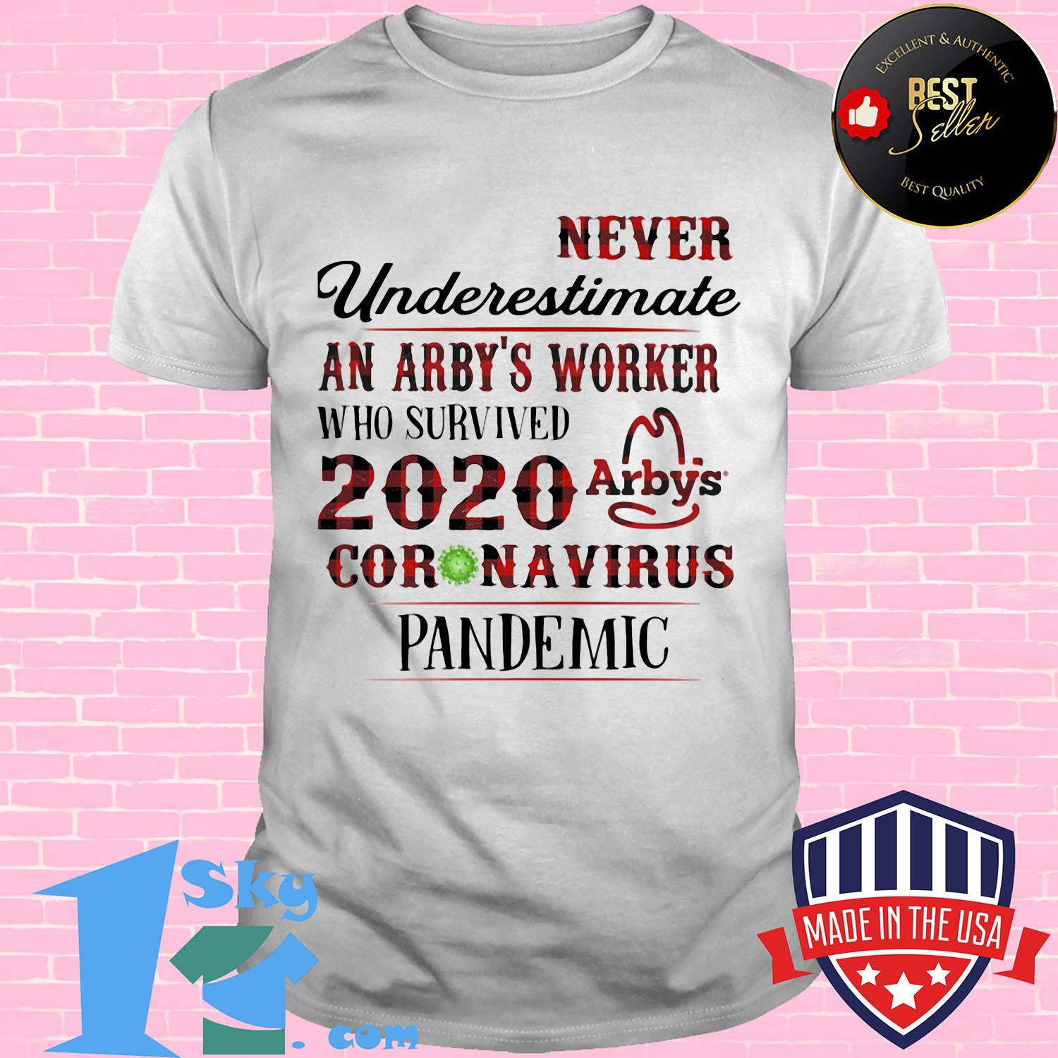 Never underestimate a arby's worker who survived 2020 coronavirus pandemic vintage shirt