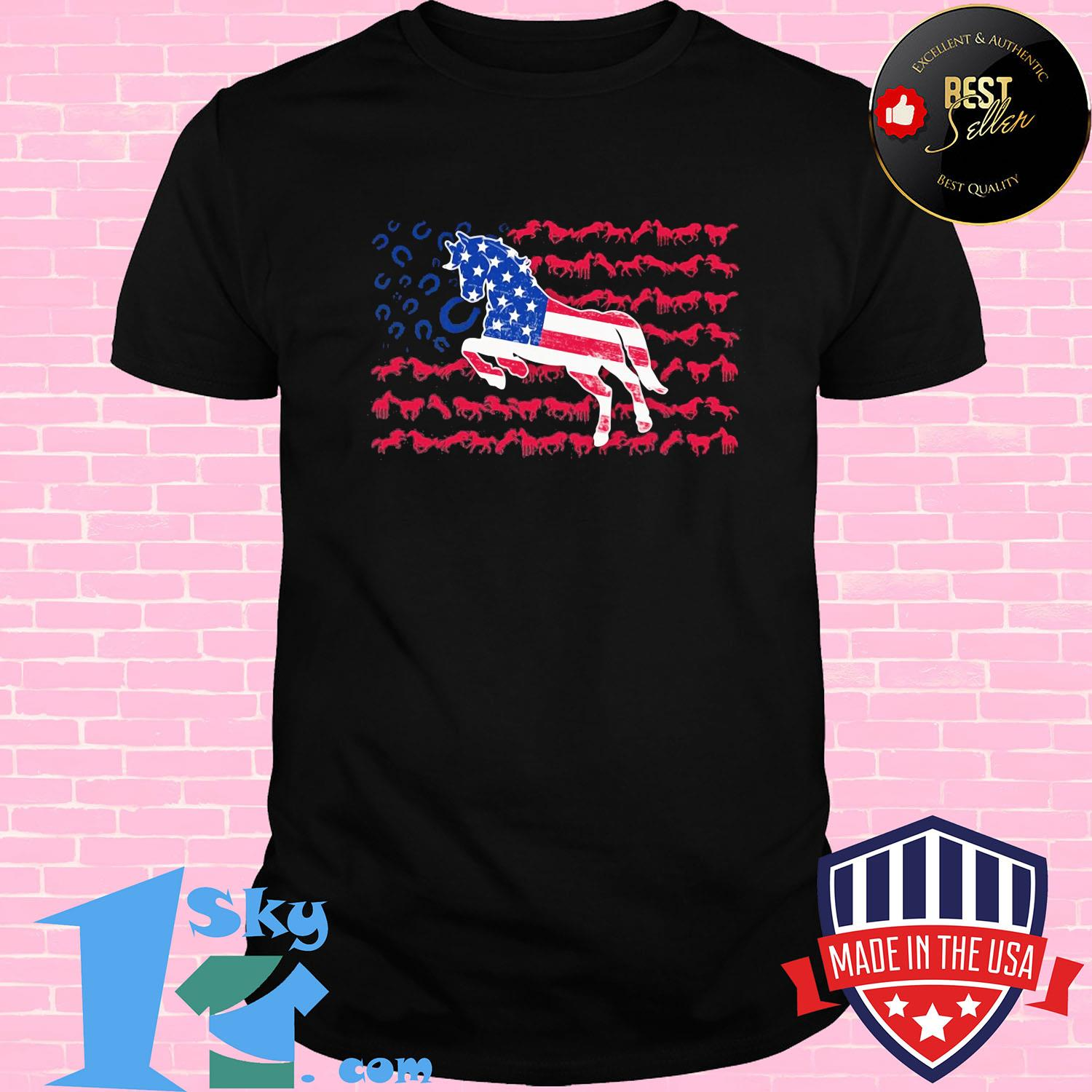Independence Day horses running shirt