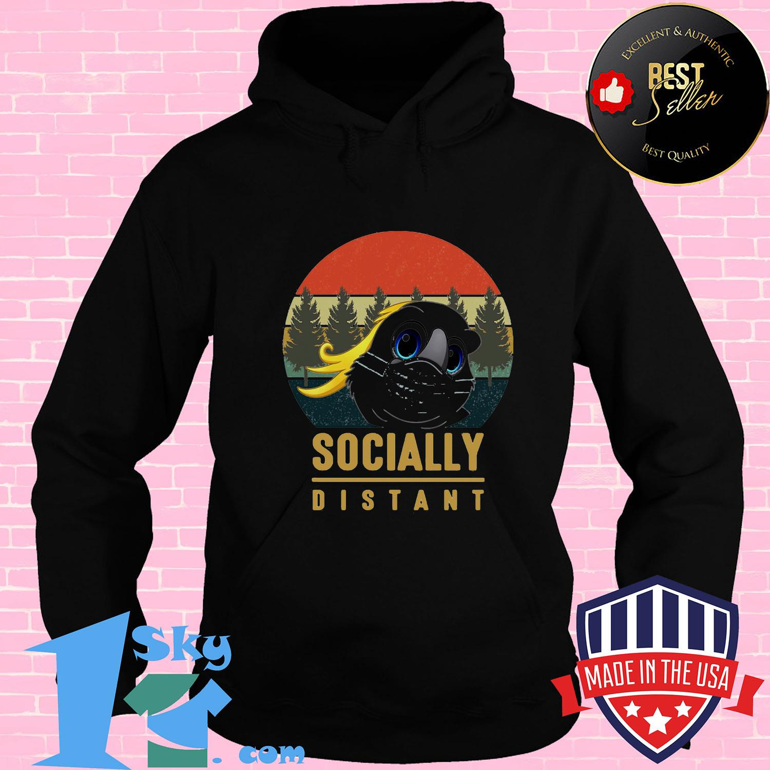 61d13064 social distant bird mask vintage shirt hoodie - Shop trending - We offer all trend shirts - 1SkyTee
