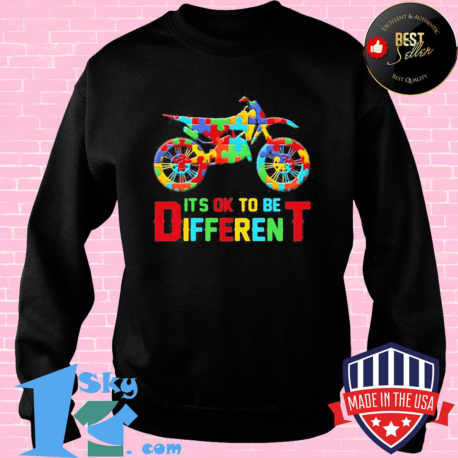 Motor autism it's ok to be different shirt