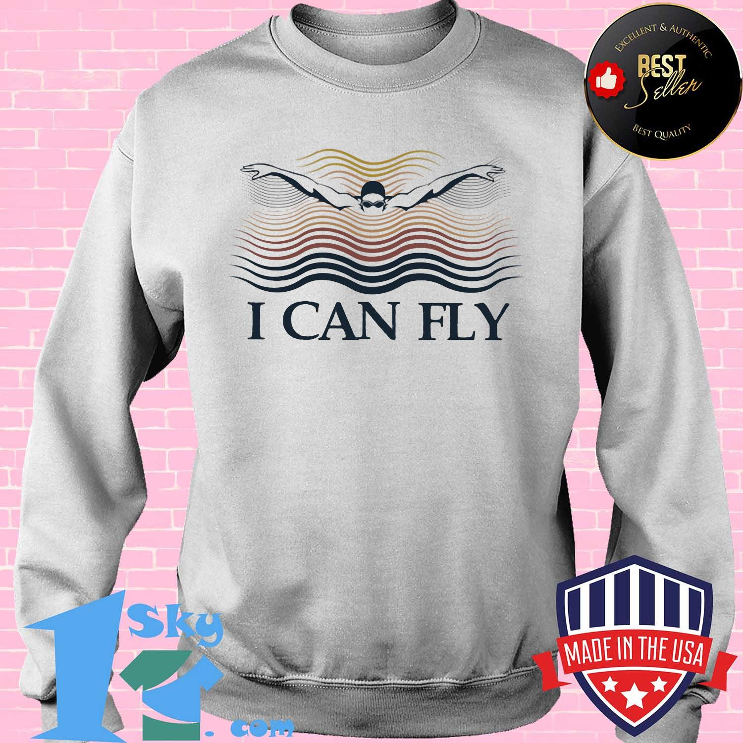 Swimming I can fly shirt