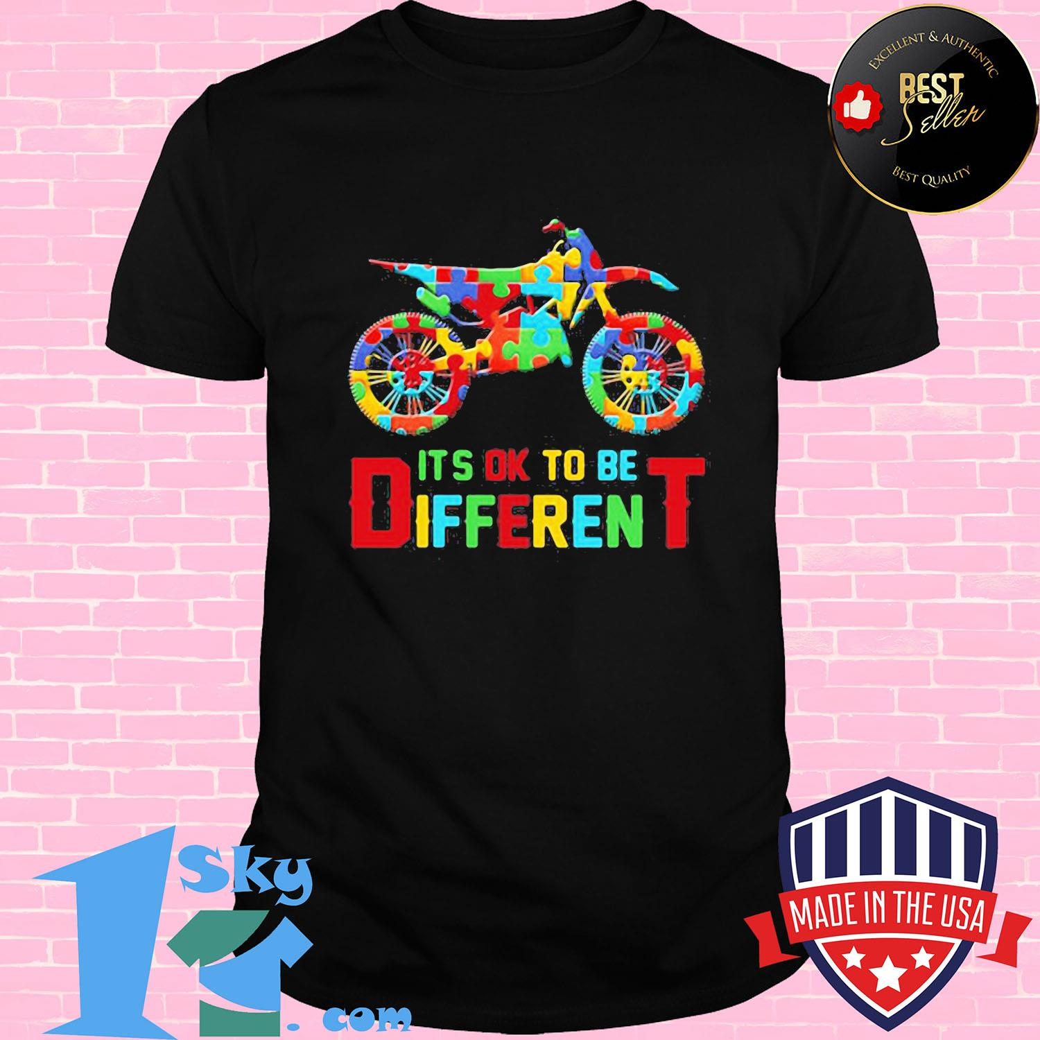 7aa97671 motor autism it s ok to be different shirt unisex shirt - Shop trending - We offer all trend shirts - 1SkyTee