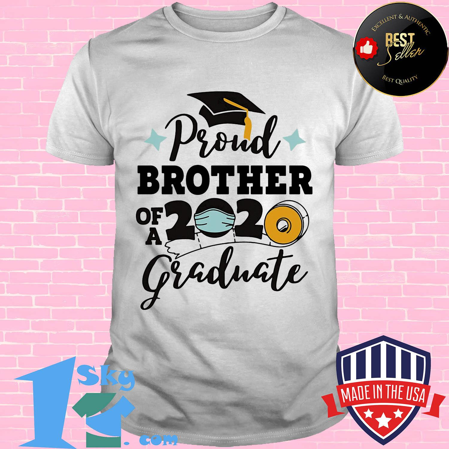 Proud brother of a 2020 graduate mask shirt