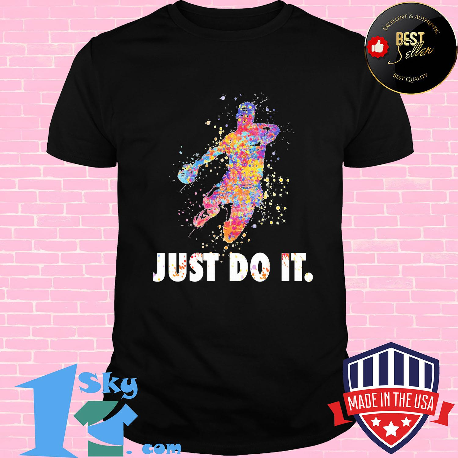 Just do it water color shirt