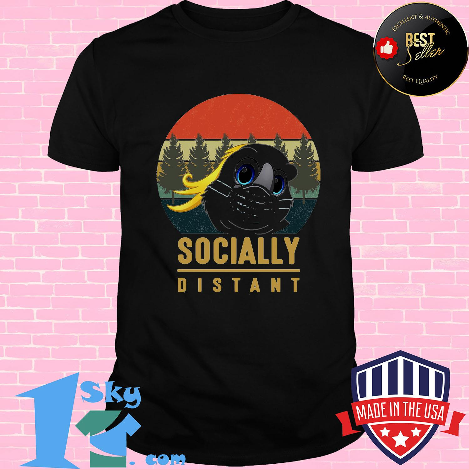 c77f0bf6 social distant bird mask vintage shirt unisex shirt - Shop trending - We offer all trend shirts - 1SkyTee