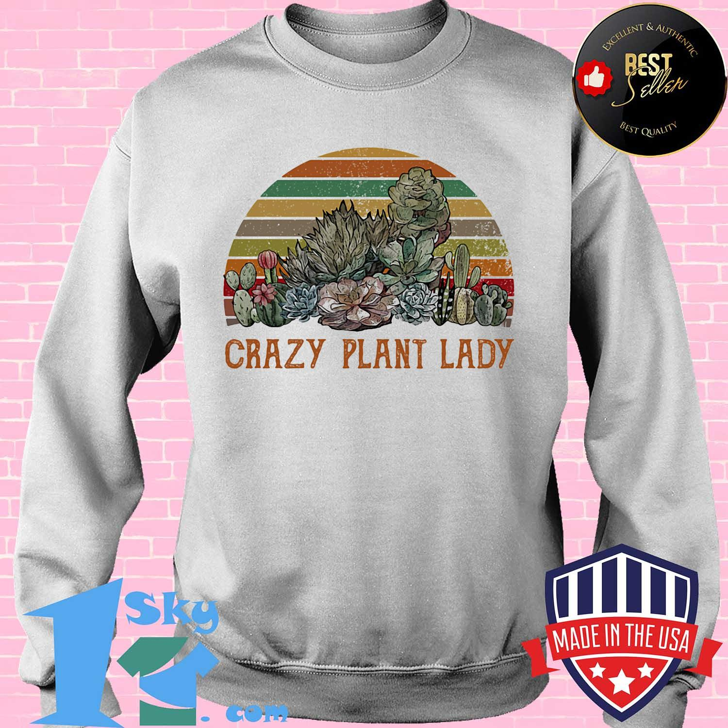 Cactus stone lotus crazy plant lady vintage s Sweater