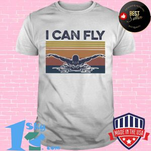 I can fly swimming vintage shirt