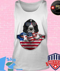Springer spaniel waist pack flag american flag independence day s Tank top