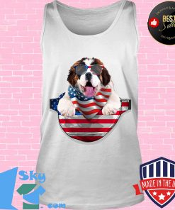 St bernard waist pack flag american flag independence day s Tank top