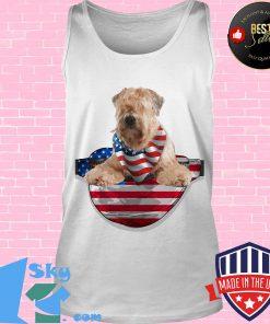 Soft coated wheaten terrier waist pack american flag independence day s Tank top