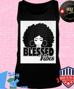 Black woman blessed vibes s Tank top