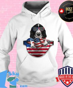 Springer spaniel waist pack flag american flag independence day s Hoodie
