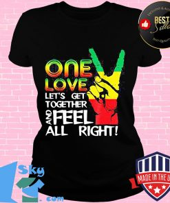 Juneteenth one love let's get together and feel all right s V-neck