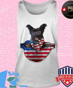 Skye terrier waist pack flag american flag independence day s Tank top