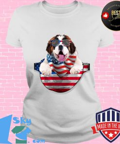St bernard waist pack flag american flag independence day s V-neck