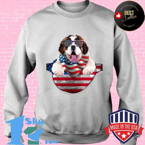 St bernard waist pack flag american flag independence day shirt