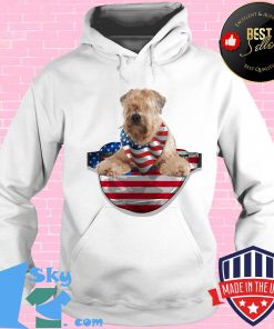 Soft coated wheaten terrier waist pack american flag independence day s Hoodie