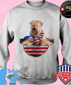 Soft coated wheaten terrier waist pack american flag independence day s Sweater