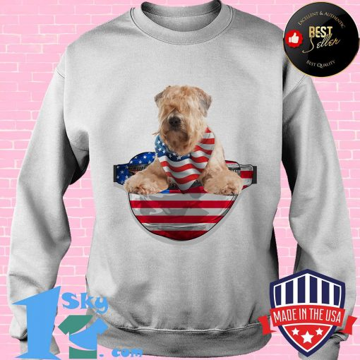 Soft coated wheaten terrier waist pack american flag independence day shirt