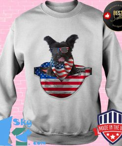 Skye terrier waist pack flag american flag independence day s Sweater