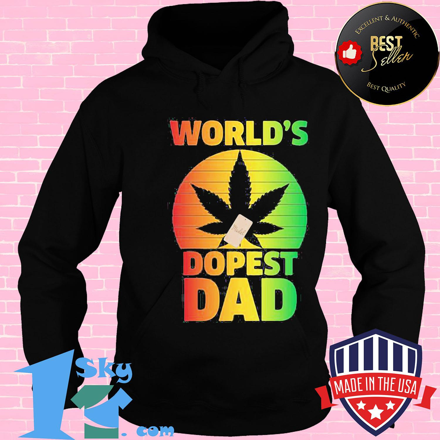 Official Weed World S Dopest Dad Happy Father S Day Vintage Retro Shirt
