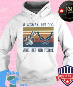 617c38d7 a woman her paw dog and her air force vintage retro shirt hoodie 247x296 - Shop trending - We offer all trend shirts - 1SkyTee