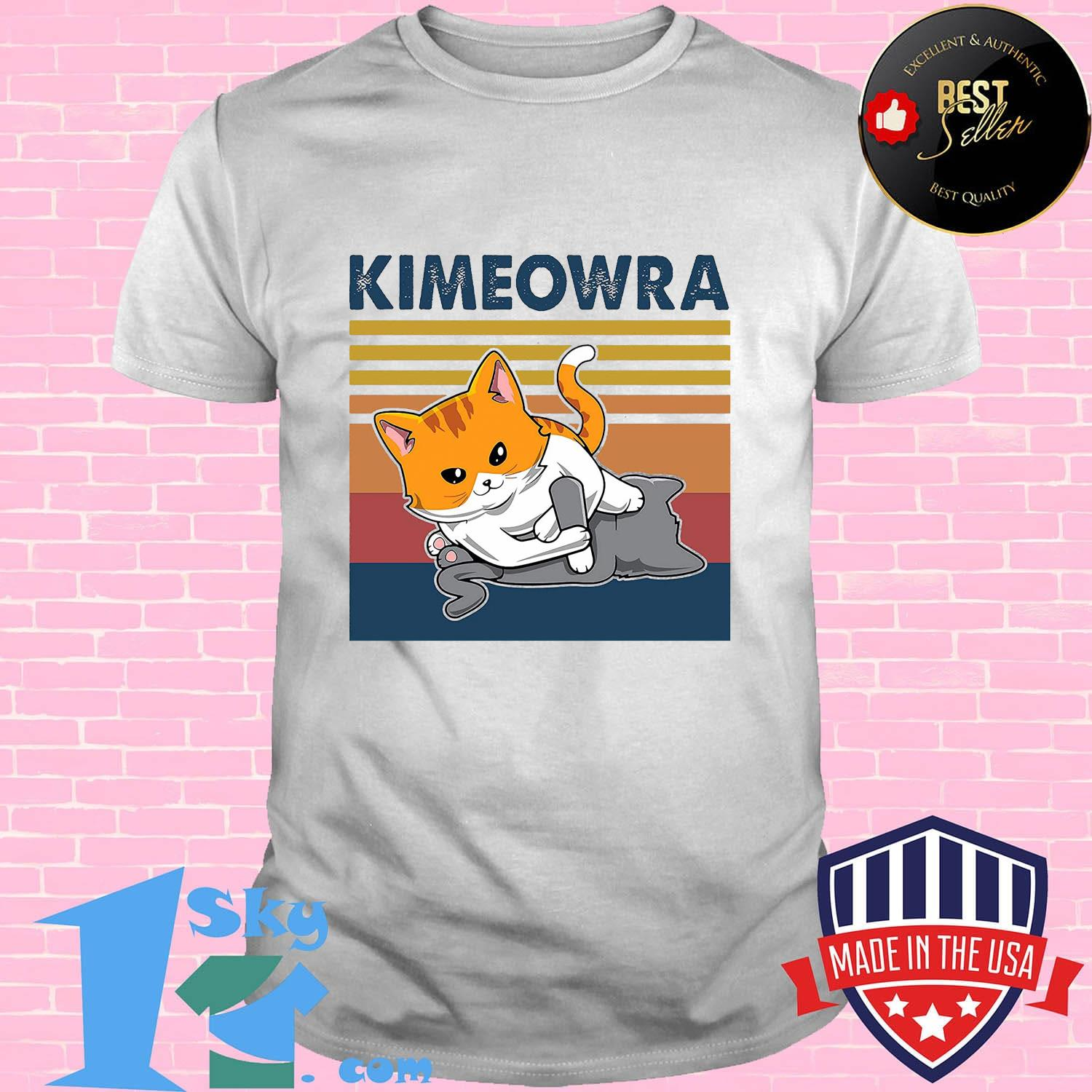ff8228af cat kimeowra vintage retro shirt unisex - Shop trending - We offer all trend shirts - 1SkyTee