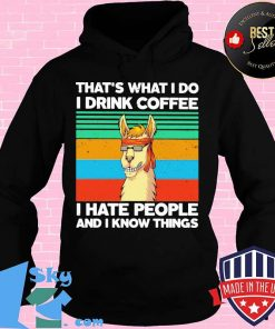 34a5343b llama that s what i do i drink coffee i hate people and i know things vintage retro shirt hoodie 247x296 - Shop trending - We offer all trend shirts - 1SkyTee