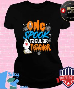 One Spooktacular Teacher Halloween Ghost School Shirt V-neck