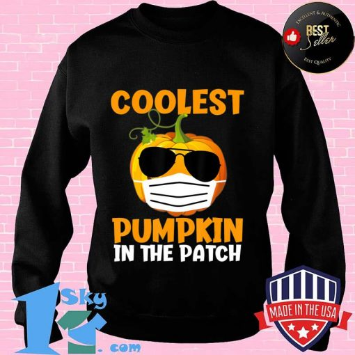 Coolest Pumpkin in the Patch Funny Quarantine Halloween Gift T-Shirt