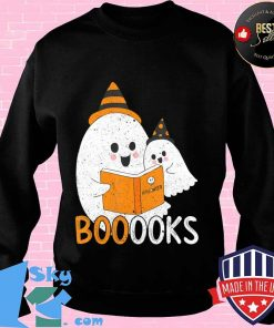Boo Ghost Book Reading Kids Gift Idea Spooky Halloween T-Shirt