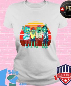 Zombies Retro Vintage Zombie Graphic Gift Boys Girls Kids T-Shirt V-neck