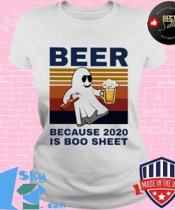 Bear because 2020 is boo sheet vintage retro s V-neck