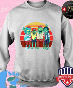 Zombies Retro Vintage Zombie Graphic Gift Boys Girls Kids T-Shirt Sweater