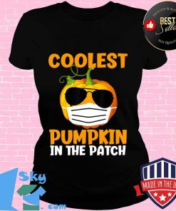 Coolest Pumpkin in the Patch Funny Quarantine Halloween Gift T-Shirt V-neck