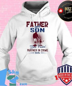 Baseball father and son best freakin partner in crime ever shirt