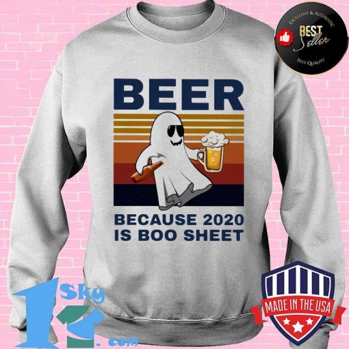 Bear because 2020 is boo sheet vintage retro shirt