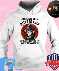 Buckle Up Butter Cup You Just Flipped My Witch Switch Blood Moon Halloween Shirt