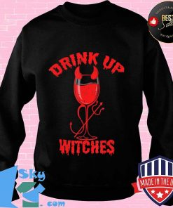 Drink up witches for Women Bestie Drinking Squad Red Wine T-Shirt