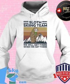 Sloth Skiing Team We Will Het There When We Get There Vintage Retro Shirt