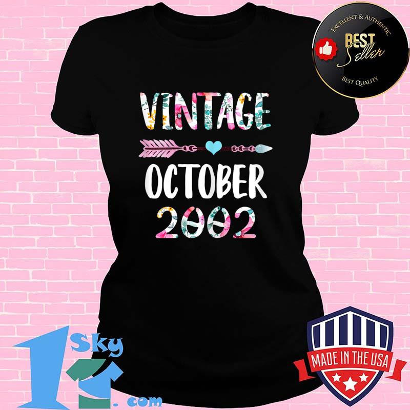 October Girls 2002 Birthday Gift 18 Years Old Made in 2002 T-Shirt