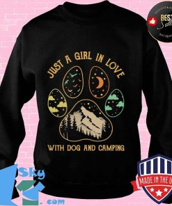 Just A Girl In Love With Dog And Camping Shirt