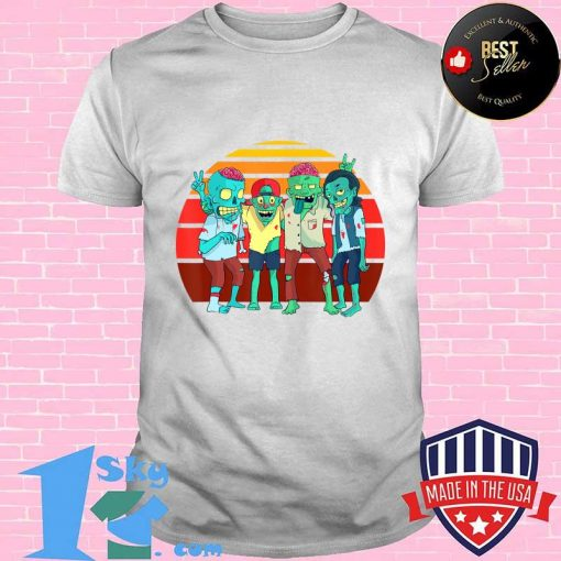 Zombies Retro Vintage Zombie Graphic Gift Boys Girls Kids T-Shirt
