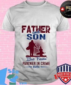 Golf father and son best freakin partner in crime ever shirt