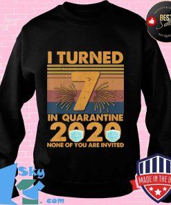 I Turned 7 In Quarantine 2020 7 years old 7th Birthday T-Shirt